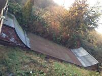 Vert ramp half pipe plus 2 rocker bmx's skate