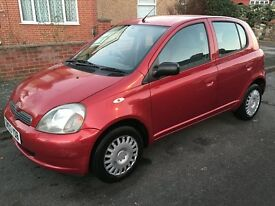 Toyota Yaris 2003 1.0 VVT-i 5 Doors Red ONLY 1 Former Keeper, Very Clean.