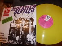 "THE BEATLES RARE YELLOW VINYL LP-""PLEASE PLEASE ME""-GERMAN-HZE 117"