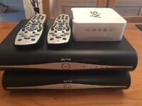 2x sky box and remotes plus wifi box