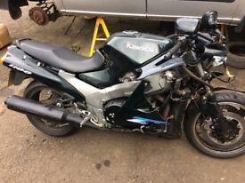 Kawasaki zzr1100 insurance right off parts repair cat b