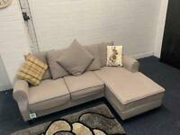 Grey Fabric corner chaise sofa LHF Or RHF delivery 🚚 sofa suite couch furniture