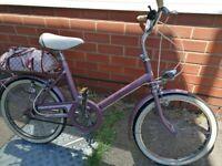 "1980 saffron by Raleigh shopper bike 20"" wheel in great condition"