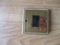 Polished Decorative Brass Telephone Master Socket Ornate Edged Polished Finish