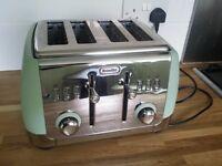 Electric Toaster 4-slice Breville Retro Duck-egg Blue Green VGC