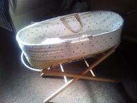 Boys moses basket and stands