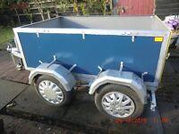 Four wheel trailer
