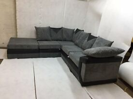 BRAND NEW STYLISH DINO JUMBO CORD (3+2) SOFA SET OR CORNER SOFA ON SPECIAL OFFER