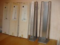 5 x DVD and CD Storage Towers, Silver, Homebase Madison Type