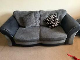 3 and 2 seater sofas with storage footstool
