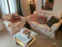 Gorgeous Floral Ektorp Ikea Sofa and Armchair