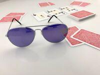 Marked poker cards for infrared glasses