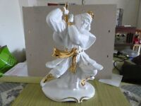 Samurai warrior in ceramic