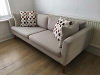 Sofa and 2 Ikea desks