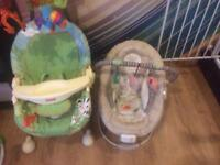 Baby sing and baby bouncer