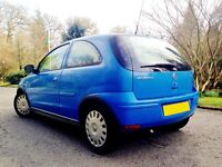 LOVELY IMMACULATE CORSA. ONLY 5150 MILES YEARLY. DRIVES EXCELLENT. LONG MOT