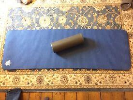 Pilates Mat and Half Foam Roller