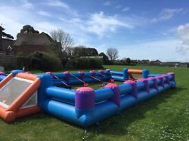Inflatable Football pitch (not bouncy castle)
