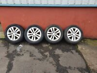 VAUXHALL ASTRA SXI 16 INCH ALLOYS AND TYRES 5 STUD
