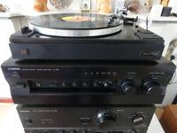 YAMAHA Hi FI Integrated PRE/ POWER AMPLIFIER AX - 596 - Audiophile vintage