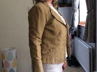 ladies tan jacket size 10