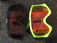 Two men's ski goggles