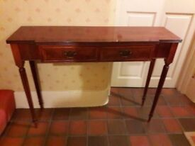 Hall table wooden with drawer - minster cabinet limited