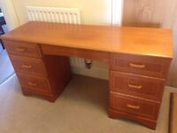 Office desk or dressing table with marquetry inlay