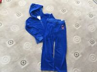 Juicy Couture blue velour Jacket & Trousers Age 10 yrs