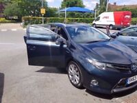 2013 TOYOTA AURIS 1.8 HYBRID Excel e-CVT HSD 46K MILES SOLD WITH PCO LICENCE FINANCE £218 PER MONTH