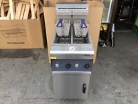 NEW ELECTRIC FRYER 2 TANK CATERING COMMERCIAL KITCHEN FAST FOOD RESTAURANT SHOP