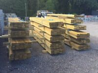 Timber Decking - 14 x Bundles of 35 boards in excellent condition, cost is per bundle @ £1 per metre