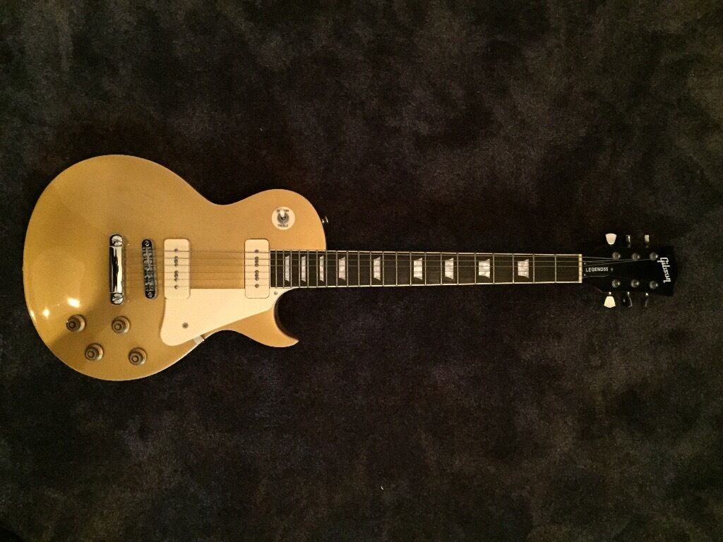 Gibson Les Paul Gold Top Guitar Chord With Gibson Decals Mint Fab