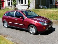 Ford Focus Ghia Auto 1.6 Hatchback 5 door, Petrol, 2001, only 54,649 miles with sun roof
