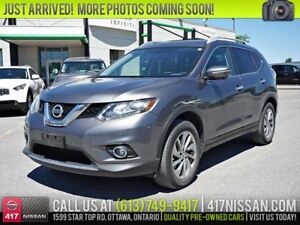 2015 Nissan Rogue SL AWD | Navi, Pano Roof, Leather Htd Seats
