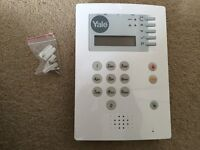 Yale alarm HSA6400 security panel and power supply and fitting bracket Telecommunicating alarm.