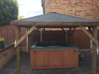 10ft x 10ft gazebo/ hot tub shelter