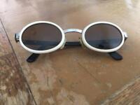 Vintage white D n G sunglasses