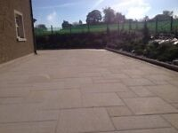 YELLOW NATURAL GRANITE PAVING SLABS (SOLID STONE) **GRADE A**
