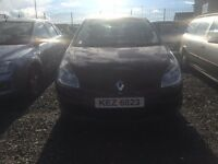 2006 1.4 Petrol Renault Clio. Breaking For Parts only. Postage Nationwide