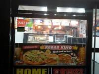 Burger pizza kebab