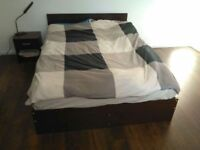 Double Bed, Wardrobe, 2x Bedside Tables