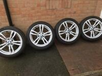 "Used 18"" genuine BMW 441M Alloys/Tyres"