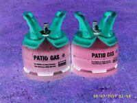 2 Patio gas 5Kg cylinders 1 full 1 half full