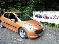 Peugeot 207 Sport 87 In Orange. 2007 07 reg, MOT March 2019