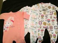 Job lot baby girls clothes newborn and 0-3 months