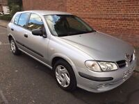 2000 NISSAN ALMERA LOW MILEAGE , 01 PREVIOUS OWNER
