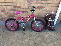 Girls 16 inch bike in pink