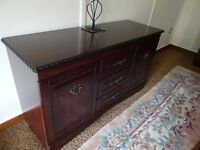 Display cabinet and matching sideboard