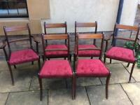 *HOUSE CLEARANCE* Set of 6 mahogany dining chairs